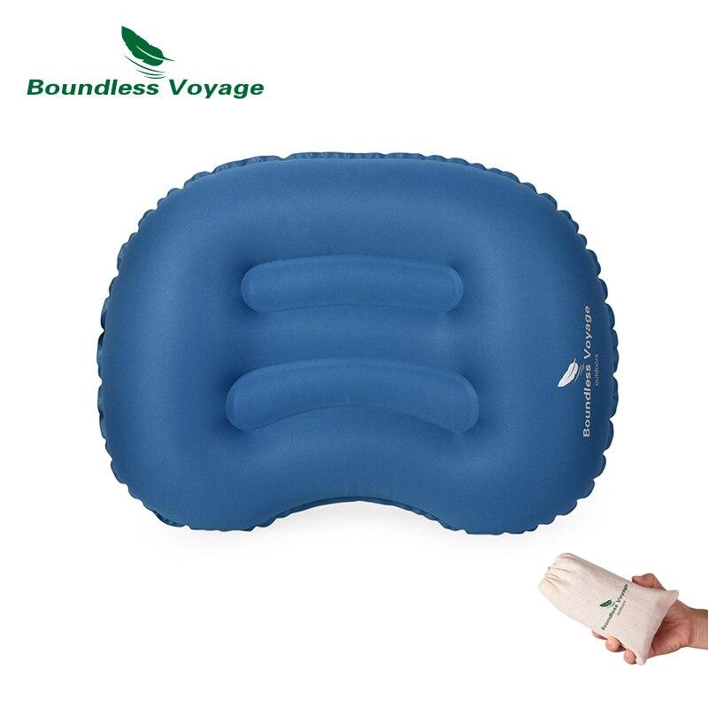 Almohada inflable de TPU para viajes y acampada, cojín trasero Lumbar para cintura, cuello, almohada de aire BV1022
