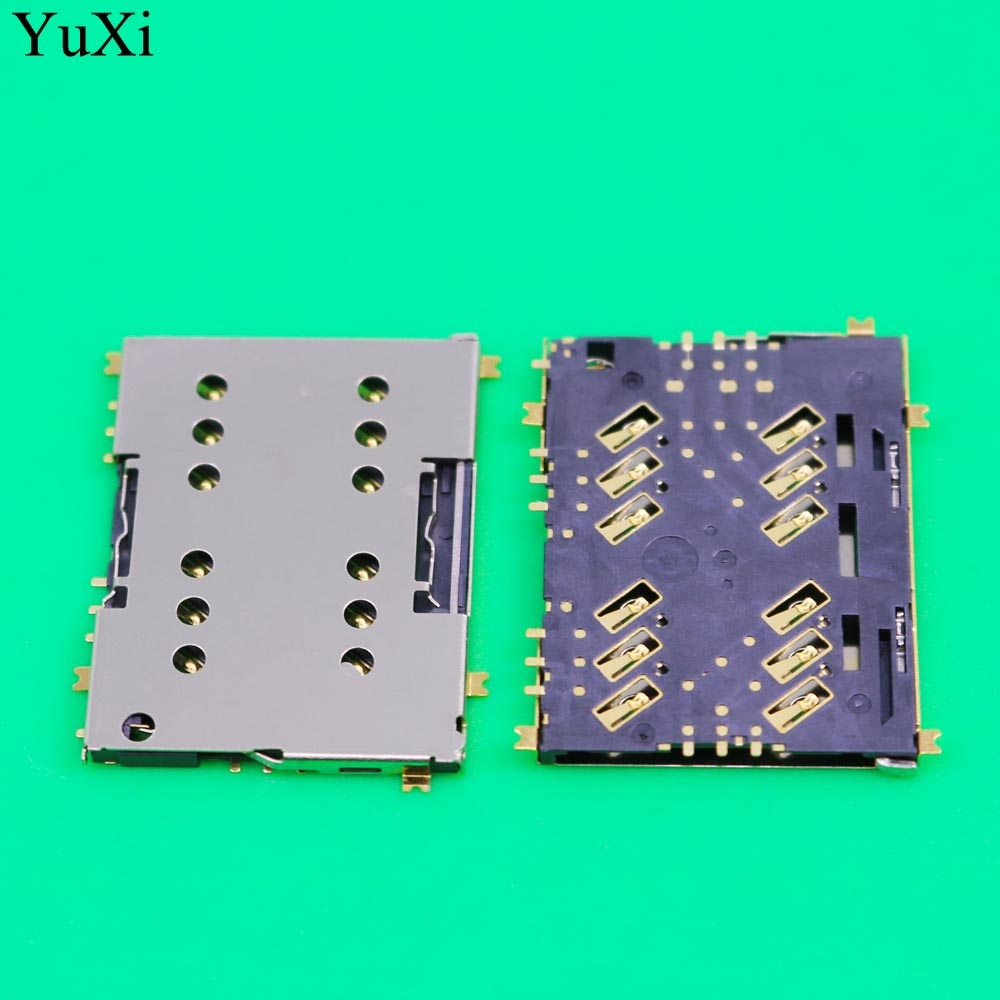 YuXi SIM Card Reader Socket For Sony Xperia M5 E5603 E5606 E5653 SIM Card Adapter Connector SIM Card Slot Holder Replacement dower me micro sd card sim card reader holder connector for sony xperia xz2 xz3 h8216 h8266 h8276 h8296 h9493
