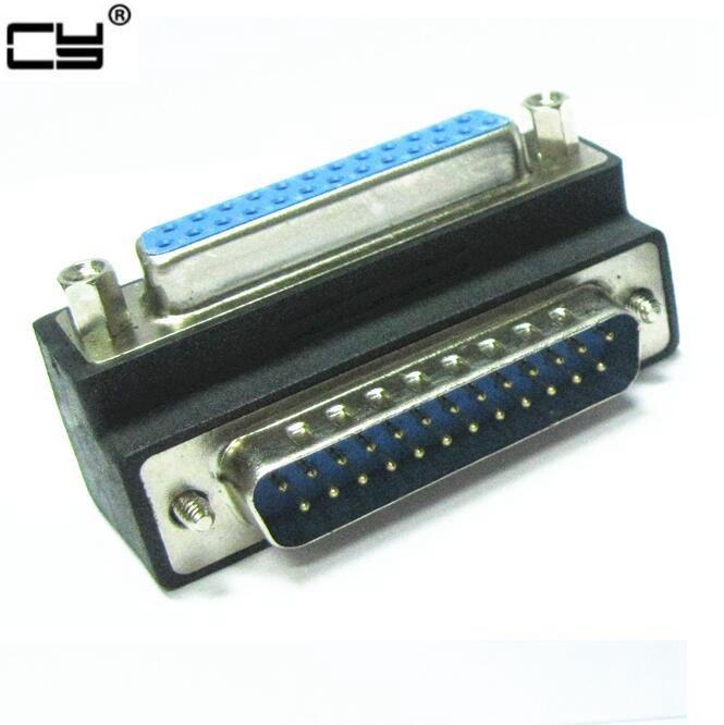 محول متوازي 90 درجة لطابعة IEEE 1284 ، 25 دبوس ، ذكر إلى أنثى ، 10 قطعة