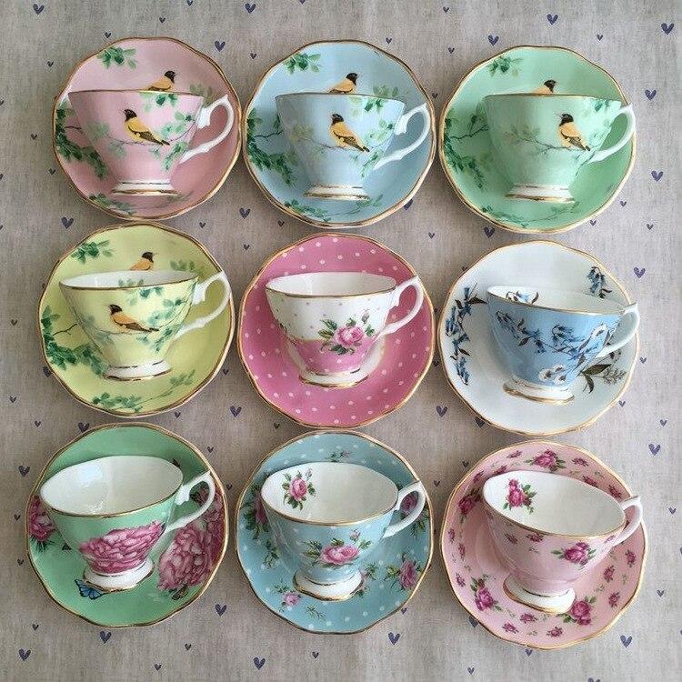 Домашний набор европейских кофейных чашек, набор эфирных чашек для напитков, чашек для чая после полудня, разнообразные узоры, возможно изготовление на заказ