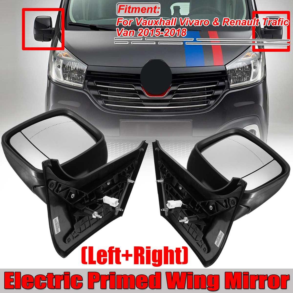 1xElectric Primed Wing Mirror Black Car Rearview Side Mirror For Vauxhall Vivaro & Renault Trafic Van 2015-2018 Rear View Mirror