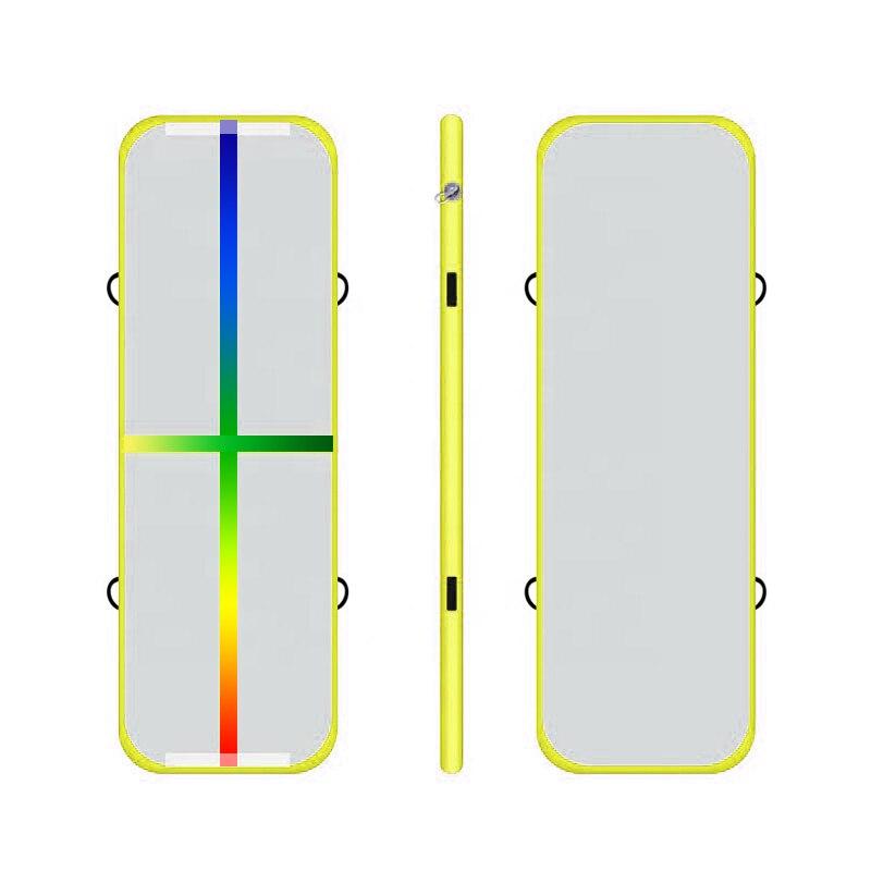 Suelo de aire inflable Rainlow Line con Material de puntada de gota de la bomba que cae la pista Mat tamaño personalizado y la alfombra que rebota del Color barato
