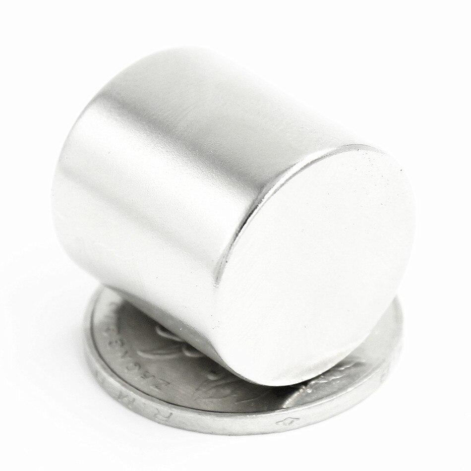 10 pçs neodímio n35 dia20mm x 20mm ímãs fortes disco minúsculo ndfeb terra rara para ofícios modelos geladeira que cola ímã 20x20mm