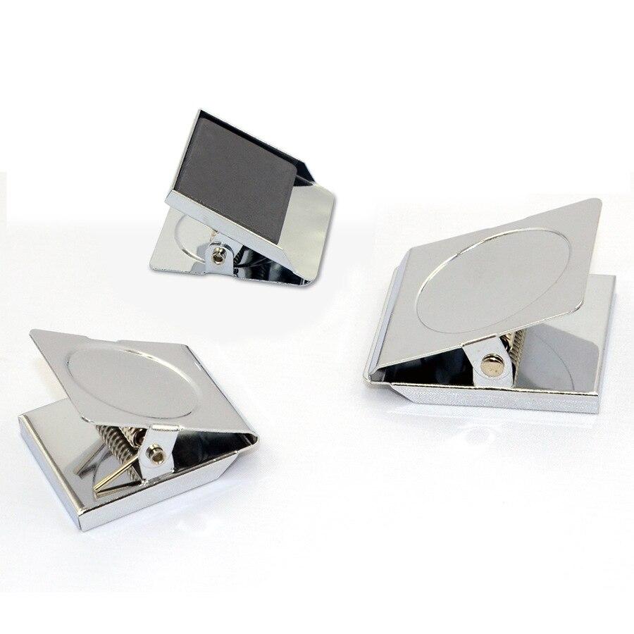 6 unids/lote, abrazadera magnética de acero inoxidable plateado, clips de papel fuertes magnéticos