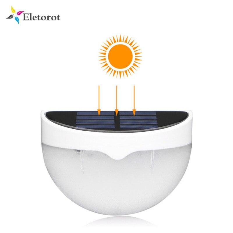 Luz LED de 6 paneles solares recargable, luz Solar impermeable para Exteriores, Seguridad, jardín, valla de patio, luz blanca cálida