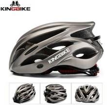 Kingbike New  Bicycle Helmet Men And Women MTB Cycling Road Matte Ultralight Safety Helmet Casco Ciclismo Bike Helmet Back Light