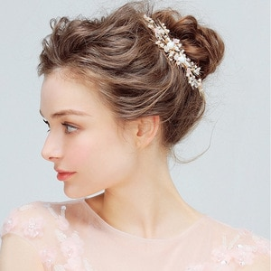 Bridal Pearl Headpiece Hair Clip Jewelry Small And Exquisite White Pink Flower Romantic Elegent Wedding Hair Accessories