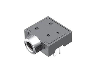 Conector de teléfono de 1000 piezas diámetro de 2,5mm 5 pin toma de audio para 3 polos enchufe de auriculares a través del agujero ángulo recto 3 localizadores DC30V 0.5A