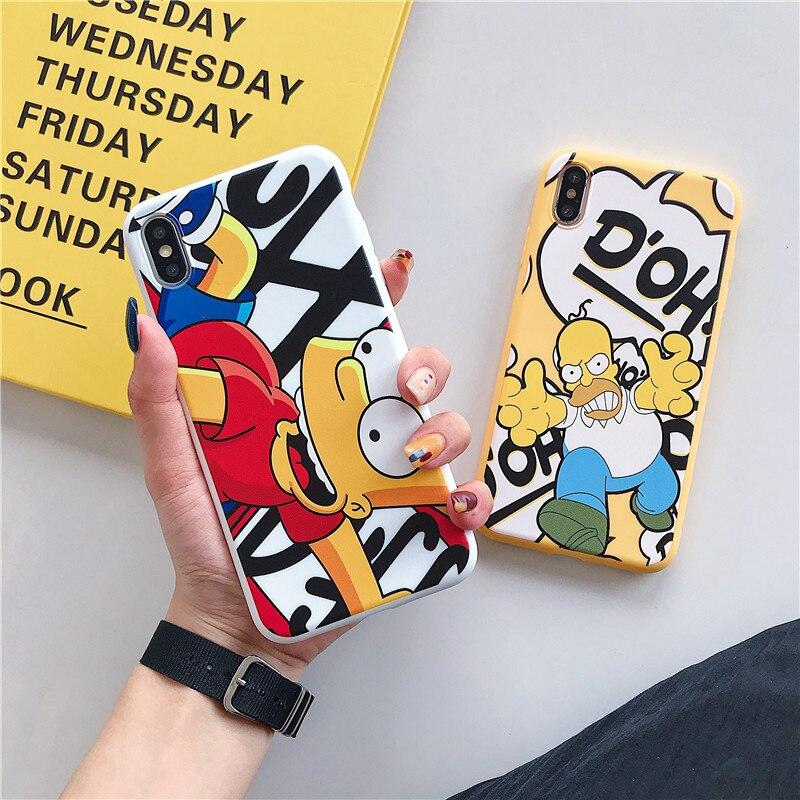 Забавный мультфильм Гомер Дж. Симпсон чехол для iPhone 6 6s 7 8 Plus X XR XS MAX Модный милый мягкий силиконовый чехол для телефона