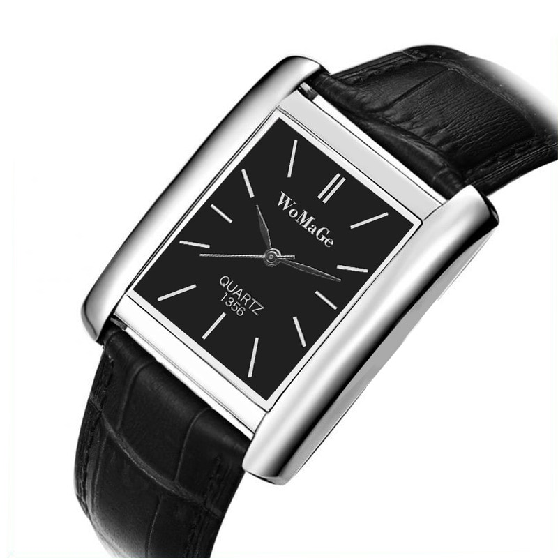 Женские часы с кожаным ремешком, элегантные Серебристые часы для отдыха с квадратным циферблатом, 2020