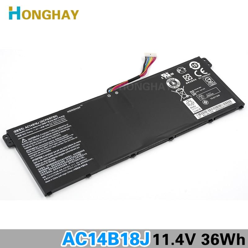 HONGHAY AC14B18J Новый аккумулятор для ноутбука Acer Aspire E3-111 E3-112 E3-112M B116 MS2394 ES1-531 AC14B13j N15Q3 N15W4