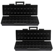 Aidetek boîte à outils en plastique ESD coffre-fort pièces de rangement SMD boîte avec 40 bacs anti-statique boîte organisateur noir petite boîte résistance BOXALL40AS