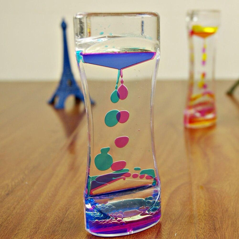 Горячая продажа креативные двухцветные плавающие жидкие масла акриловые песочные часы жидкие визуальные движения Пузырьковые песочные часы таймер домашний стол Декор