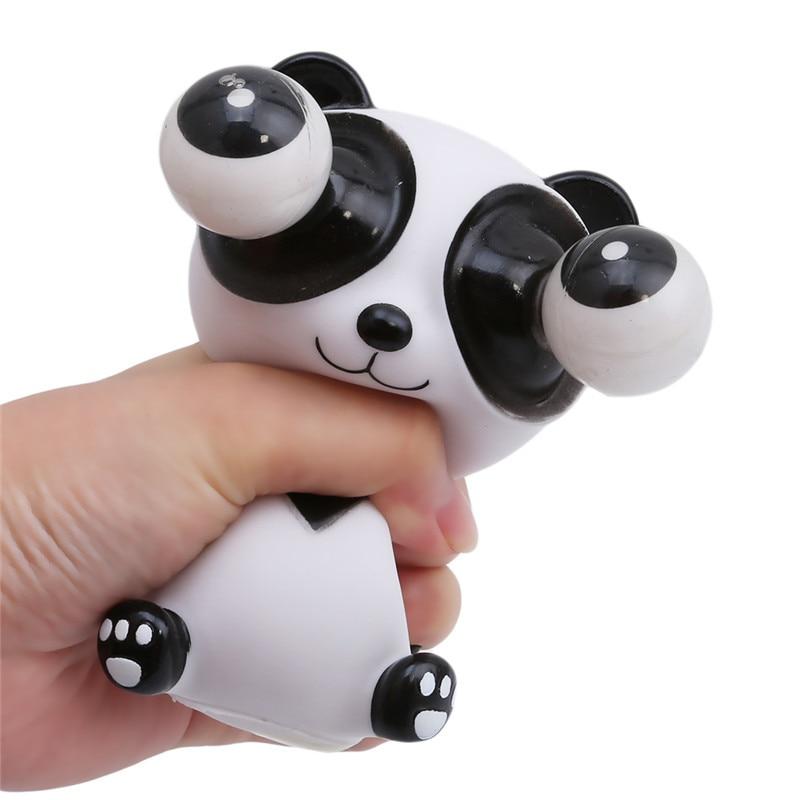 Pop Shock Squeeze Antistress Toy OutDoll Cartoon Animal Fun Stress Relief Panda Decompression Shock Prank Kid Eyes Popping Toys