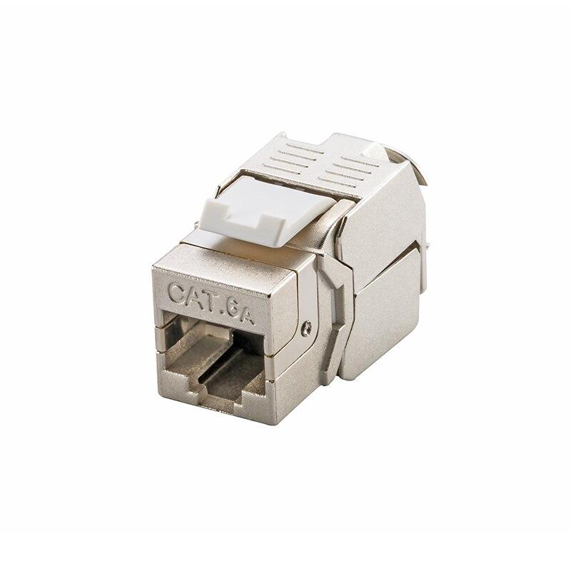 (24 pièces un lot) 10G réseau Cat6a (CAT.6A classe Ea) RJ45 blindé Keystone Jack connecteur réseau-également adapté pour CAT7 câble