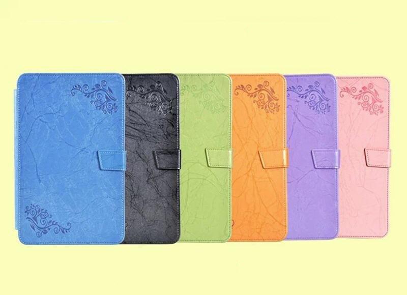 30 pcs Impressão Flor PU Caso Capa de Couro para Samsung Galaxy Tab 10.1 2016 T580 T585 T580N T585N + protetor de Tela clara