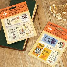 Pegatina de sello de la serie de viajes alrededor del mundo Vintage de Corea/calcomanía de nota DIY/etiqueta de decoración No.0097
