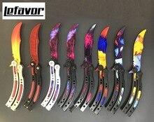 CS GO knife butterfly in knife folding karambit knife for training practice Counter Strike Game stainless steel  knife gift set