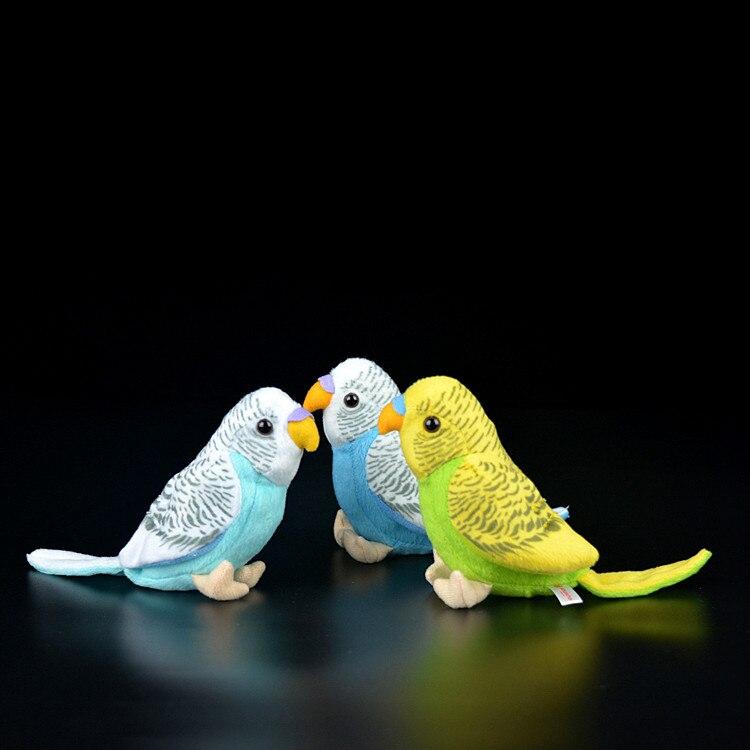 Adorável realista budgerigar crianças de pelúcia animais de pelúcia brinquedos realista pássaros papagaios bonecas simulação pássaro crianças brinquedos macios boneca