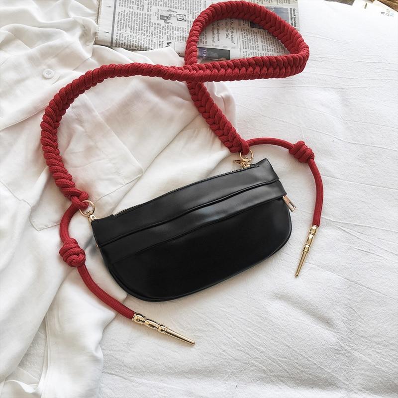Fashion Trend женские сумки на груди Простые твердые женские сумки на ремне, сумки на ремне, женские банановые сумки