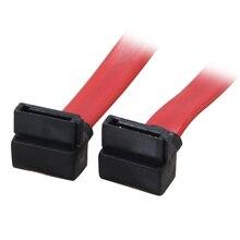 18 인치 90 90도 6 기가바이트/초 SATA3 직렬 ATA 데이터 케이블 PC SATA 3.0 SATAIII 6Gbps HDD 하드 드라이브 디스크/SSD-빨간색