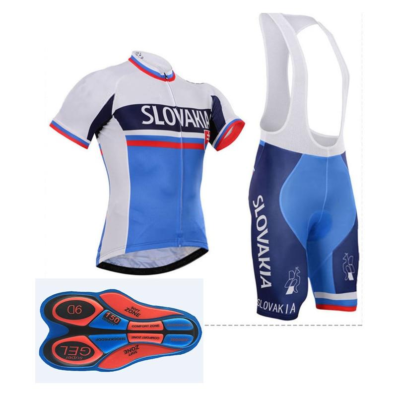 Team SLOVAKIA-uniforme de Ciclismo profesional para hombre, conjunto de pechera corta, Ropa...