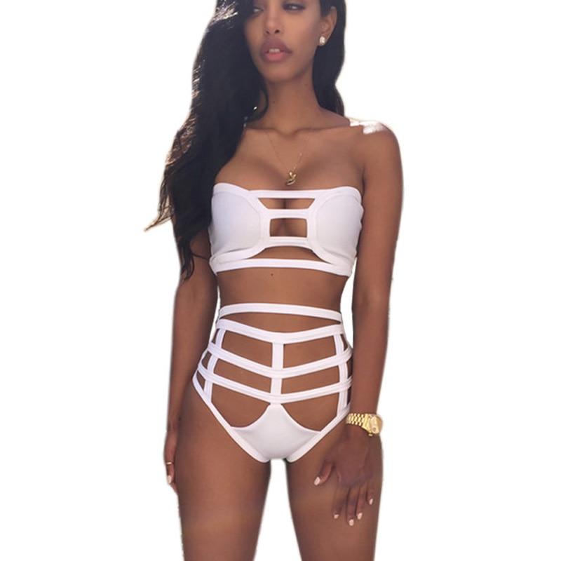 Brand New High Waisted Bikini Bottoms Super Sexy Bandage Beach Wear Bikini Sport Swim Suit Women Maillot De Bain Swimsuit 2016