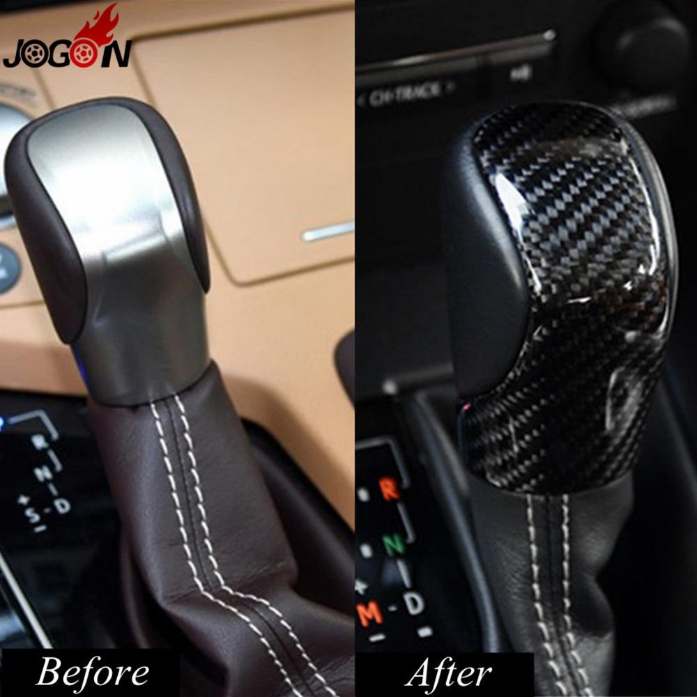Carbon Fiber Gear Shift Knob Trim Cover For Lexus RX IS ES NX RC RX200t RX350 RX400h IS250 IS300 ES250 ES300h ES350 NX300h NX200