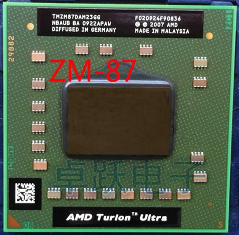 AMD portátil procesador cpu AMD Turion x2 Ultra ZM-87 ZM87 ZM 87 TMZM87DAM23GG 2,4 GHz Socket S1 envío gratis