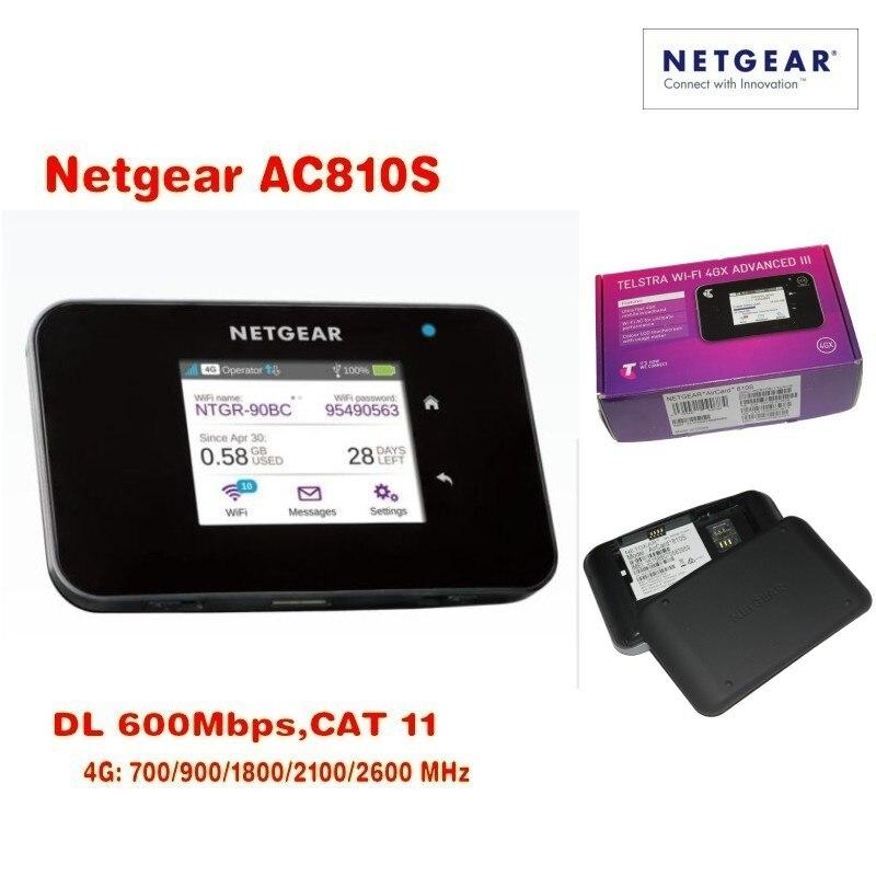 Monte de 10 Desbloqueado Netgear Aircard Cat11 4g Lte Hotspot Móvel 600 Mbps Roteador Wi-fi Mais Antena Entrega Dhl Pcs Ac810s