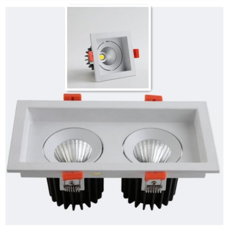 High quality Surface Mounted adjustment LED COB dimmable Downlights AC85-265V 10W 20W  LED Ceiling Lamp Spot Light cob led downlights 7w 10w 12w 15w surface mounted dimmable led ceiling lamps spot light square cob led downlights ac85 265v