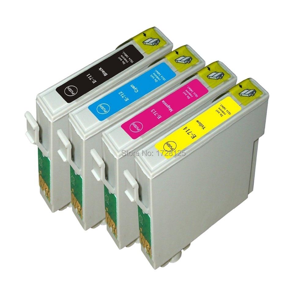 4x Compatible T0711 T0891 XL cartuchos de tinta para Epson stylus SX410 SX415 SX510 SX515 SX515W SX510W impresora