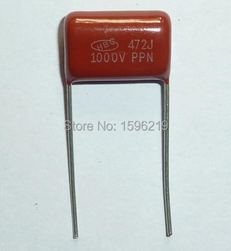 Конденсатор CBB 472 1000V 472J 1KV 4700pF 4.7nF P15 CBB81, Металлизированный Полипропиленовый пленочный конденсатор, 50 шт.