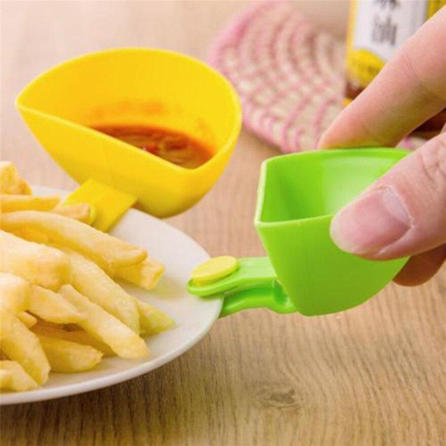 1 шт. Ассорти приправа сахарный салат томатная паста соус блюда кухня клип чаша окунуть небольшой зажим приправа блюдо #1205 A1 #