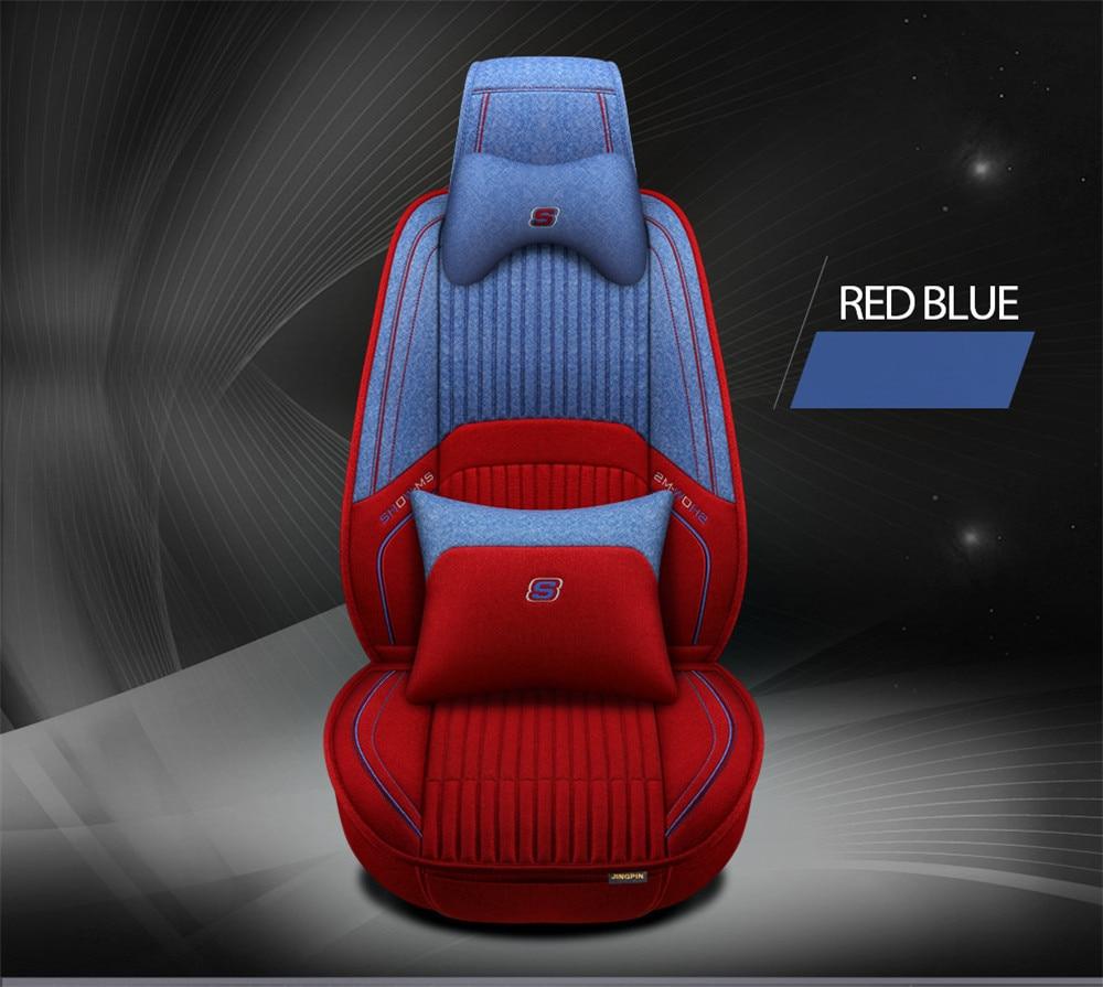 Funda de fibra de lino personalizada para asiento de coche, partes interiores de coche, cojín universal para asiento, estilo de coche para Peugeot 206 207 2008 301 307 3008 40