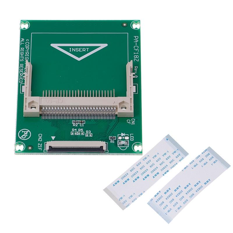 1.8-אינץ 50 פינים קומפקט פלאש CF כרטיס זיכרון כדי ZIF/CE מתאם SSD HDD מתאם כרטיס