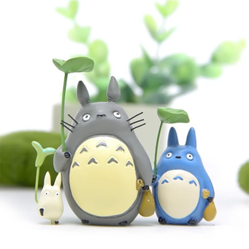 Japão mini totoro figura de ação resina brinquedos ghibli miyazaki anime sorte totoro estatueta modelo collectible decoração para crianças