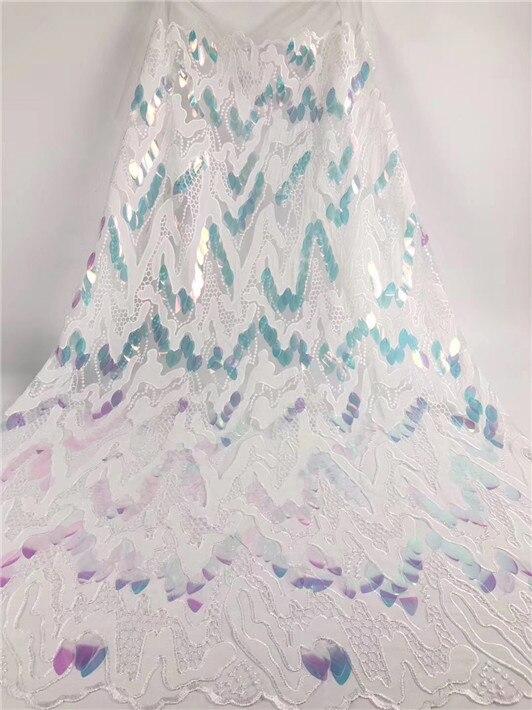 Encaje de red francesa con lentejuelas, tela de encaje guipur de terciopelo de tul suizo africano de alta calidad para vestido de 5 yardas/lote de oro rojo nigeriano (