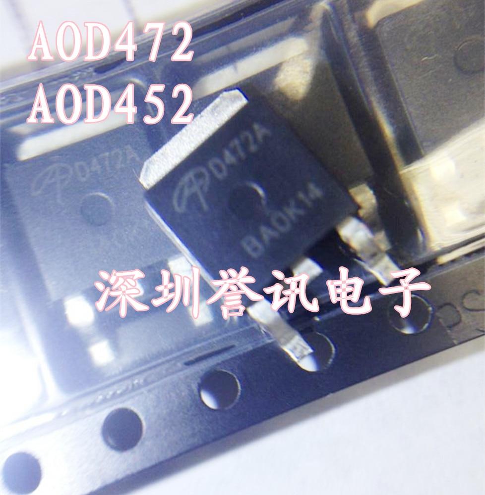 10 Uds. AOD452 TO252 D452 TO-252 D452A D425 AOD452A AOD452AL SOT nuevo original