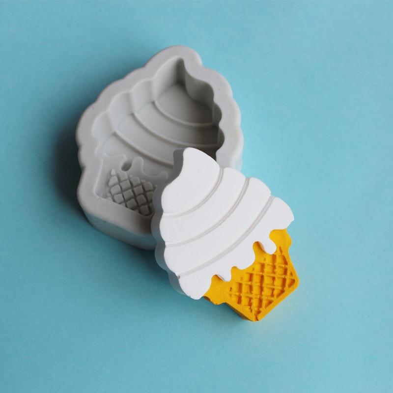 Sobremesa Sorvete Molde de Silicone DIY Fondant Molde Do Bolo de Chocolate Fudge Seco Pez Molde