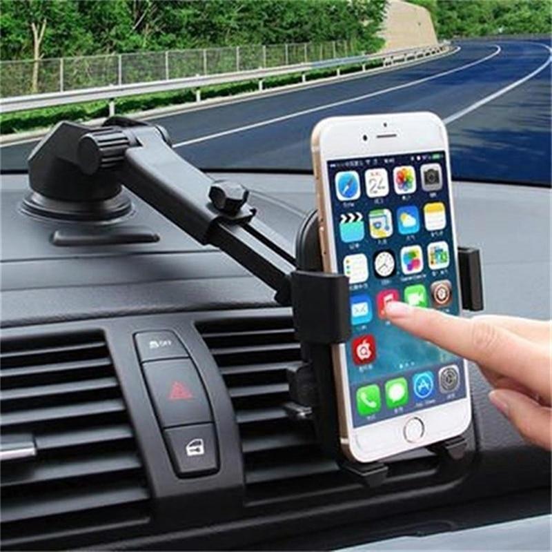 Soporte para teléfono móvil para parabrisas De coche 360 grados para IPhone 7 8 X XS PLUS soporte para teléfono móvil accesorios De lujo para coche