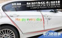 10 m Auto deur bescherming rubber stickers voor alfa romeo 159 toyota prius peugeot 208 vw polo passat b5 mazda 3 2014 peugeot