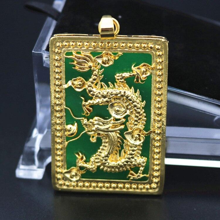 Las cadenas europeas chapadas en oro de 24K hombres dominantes Vietnam collar de oro colgante Zodiaco dragón no se decolora