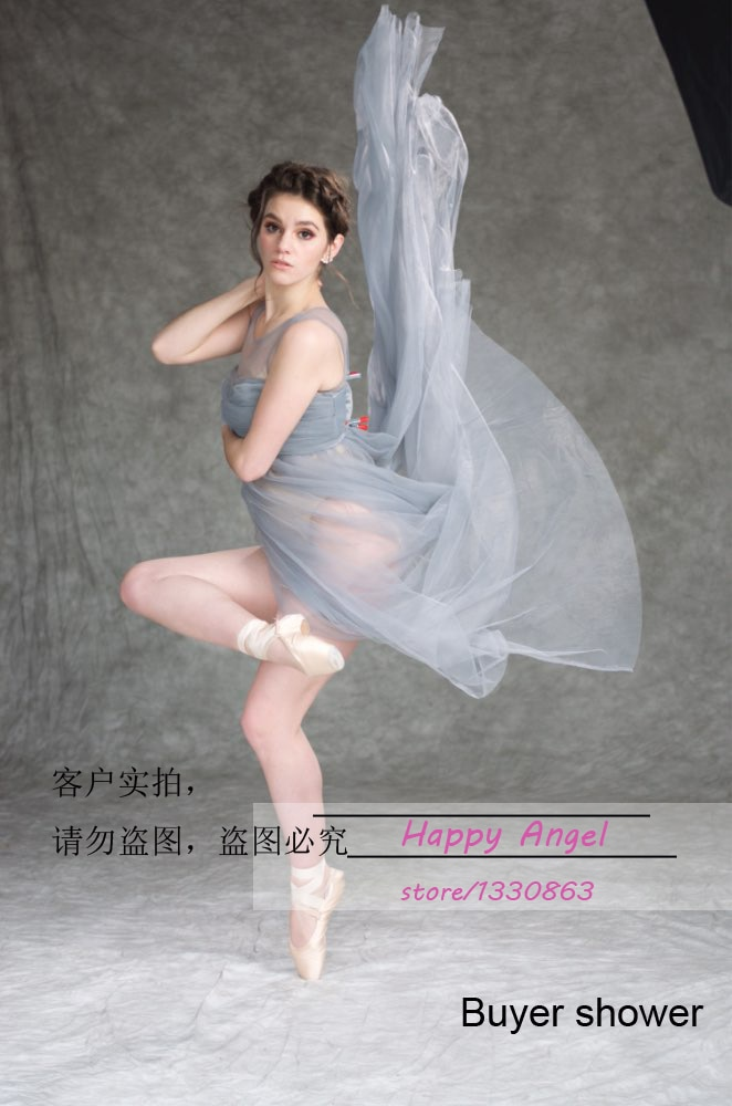 Chiffon Big Sale Silver Gray Gown Two Layer Maternity Photography Studio Pregnant Women Fancy Dress Outdoor Indoor Photo Shoot enlarge