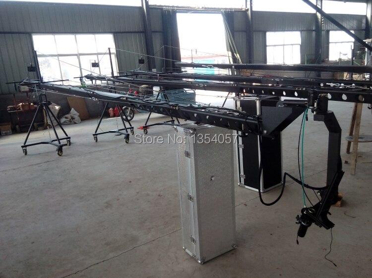 jimmy jib camera 12m 3-axis motorized dutch head camera  crane for sale Factory supply