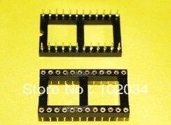 FREE SHIPPING 20PCS/LOT 2.54MM 24P (2x12 Pins) Wide Circular hole IC Socket