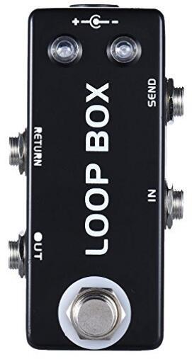 Mini Loop Box guitarra efecto Pedal conmutador selección de canal True Bypass