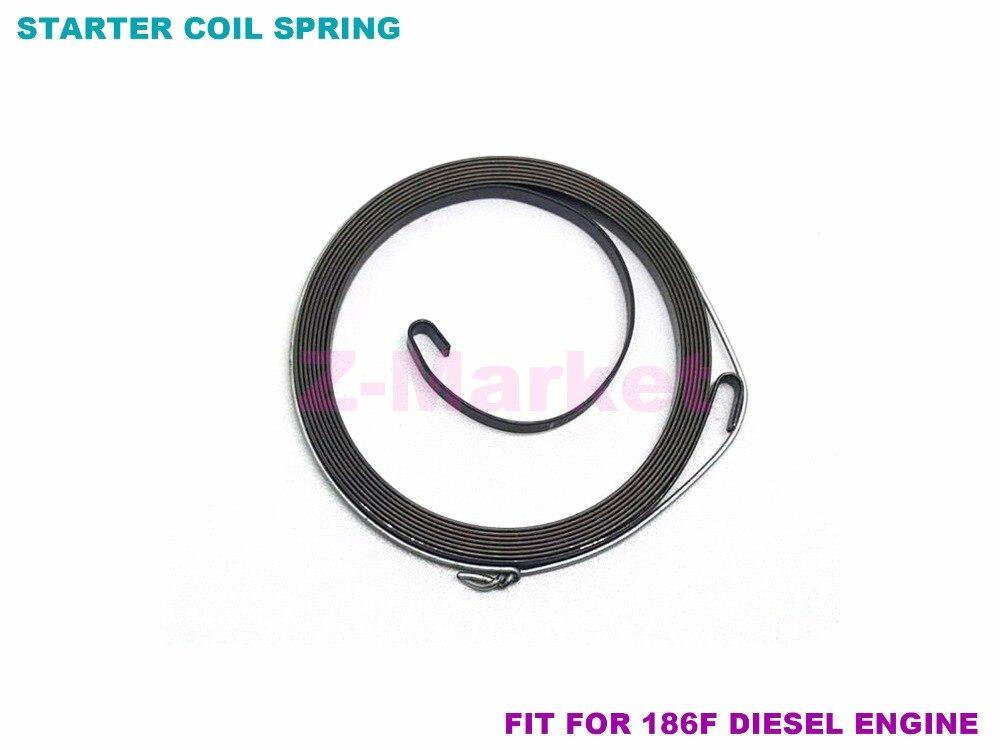 3PCS 186F DIESEL Engine Starter Recoil Spring  for Pump.Generator.Tiller. Chipper . Cultivator.Garden Tools