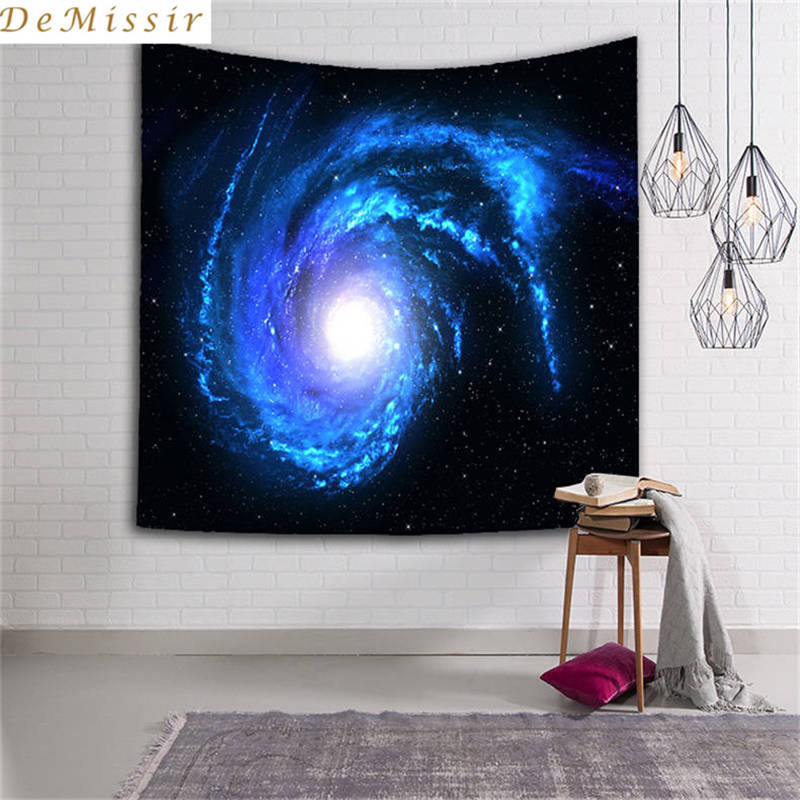 DeMissir 3D universo cielo cósmico 23 patrones tapiz decorativo de Mandala indio 130cm x 150cm 150cm x 210cm Alfombra de pared Boho