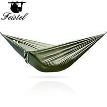 Hamac vert mobilier dextérieur filet Nylon hamac parachute hamac double Hamock Hammack 260CM 260*140 300CM 300*200CM